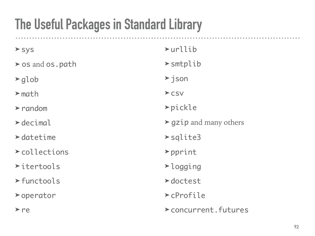 The Useful Packages in Standard Library ➤ sys ➤...