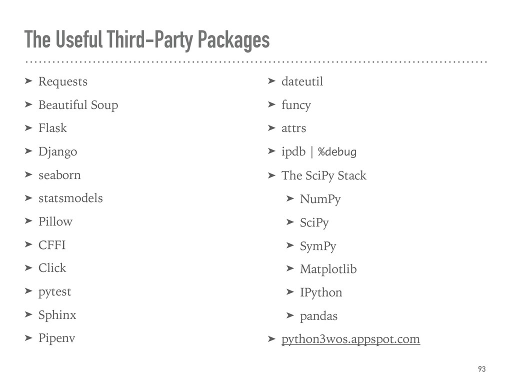 The Useful Third-Party Packages ➤ Requests ➤ Be...