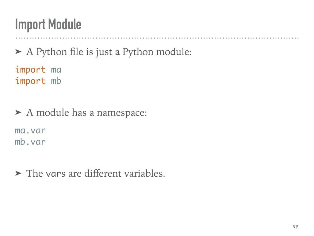Import Module ➤ A Python file is just a Python m...