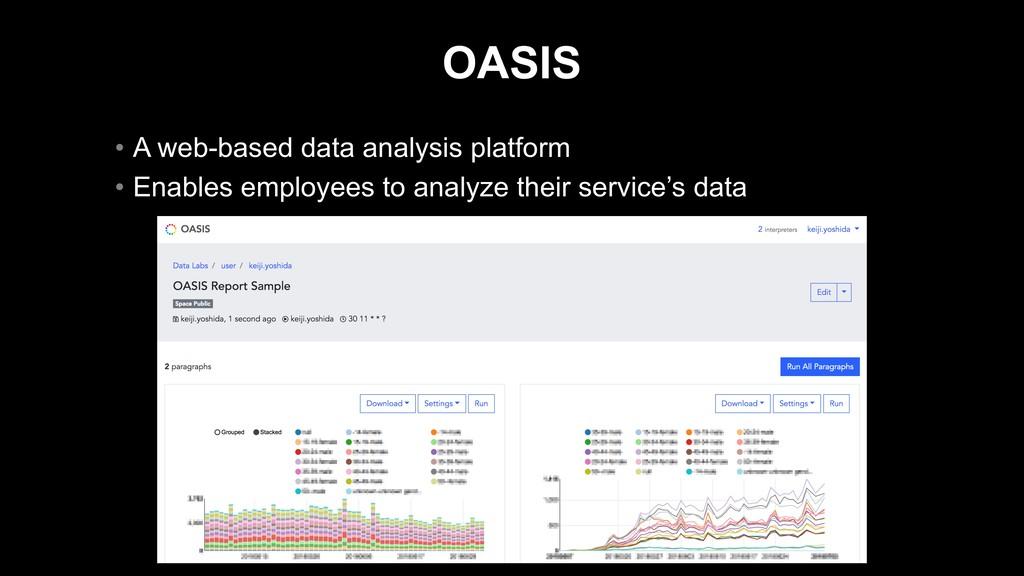 OASIS • A web-based data analysis platform • En...