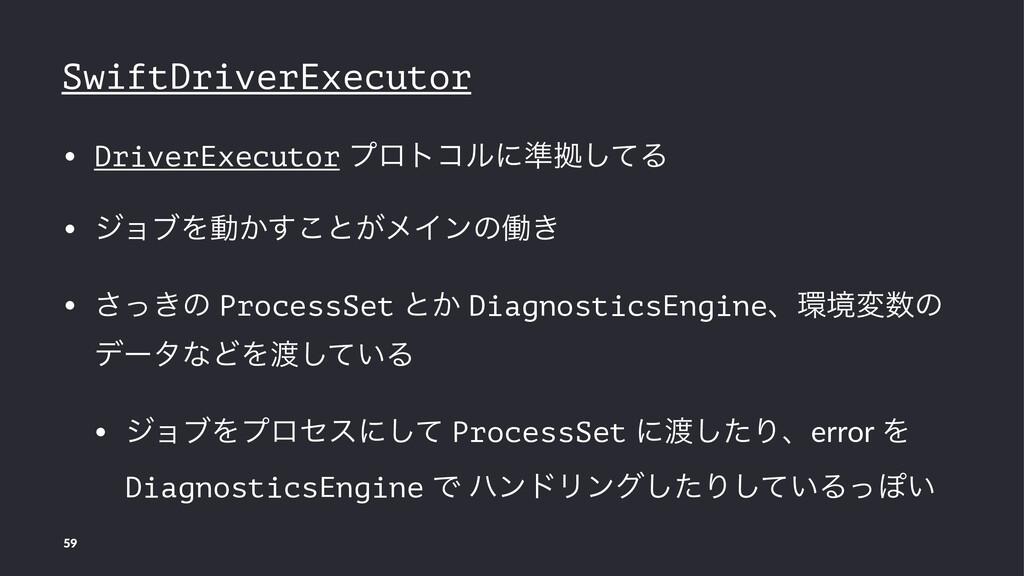 SwiftDriverExecutor • DriverExecutor ϓϩτίϧʹ४ڌͯ͠...