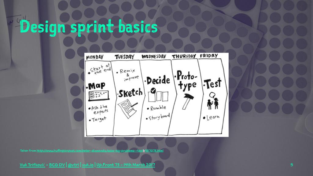 Design sprint basics Taken from http://www.huff...