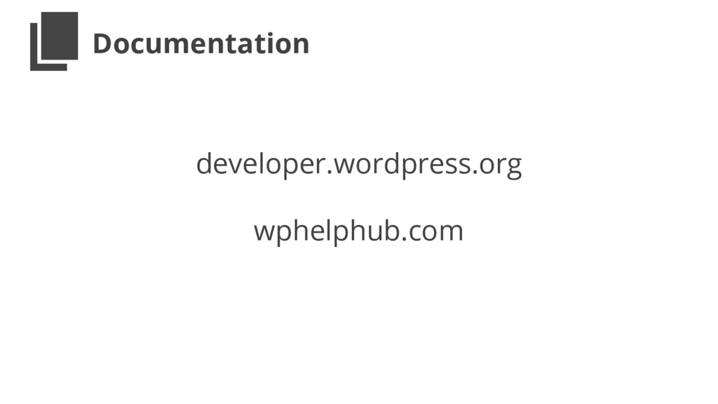 Documentation developer.wordpress.org wphelphub...