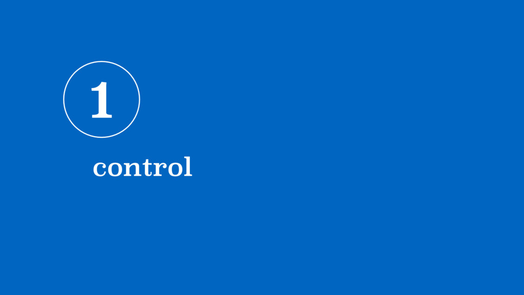 1 control