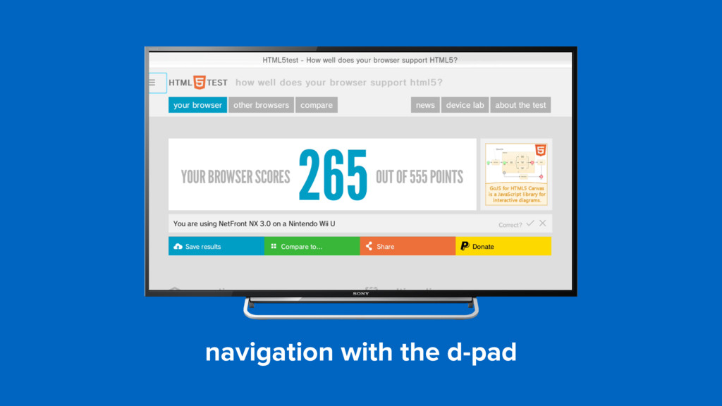 navigation with the d-pad