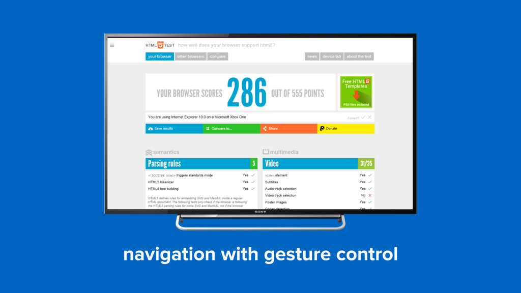 navigation with gesture control