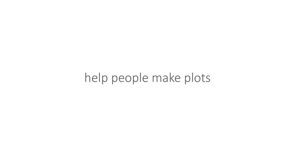 help people make plots