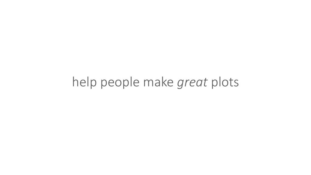 help people make great plots