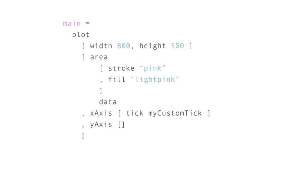 main = plot [ width 800, height 500 ] [ area [ ...