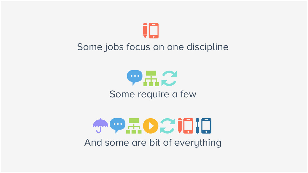 And some are bit of everything ☂ ▶ Some jobs fo...