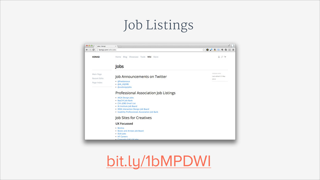 Job Listings bit.ly/1bMPDWI