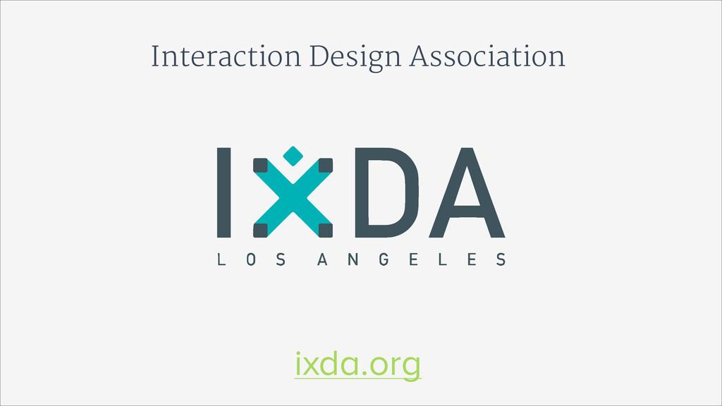 Interaction Design Association ixda.org