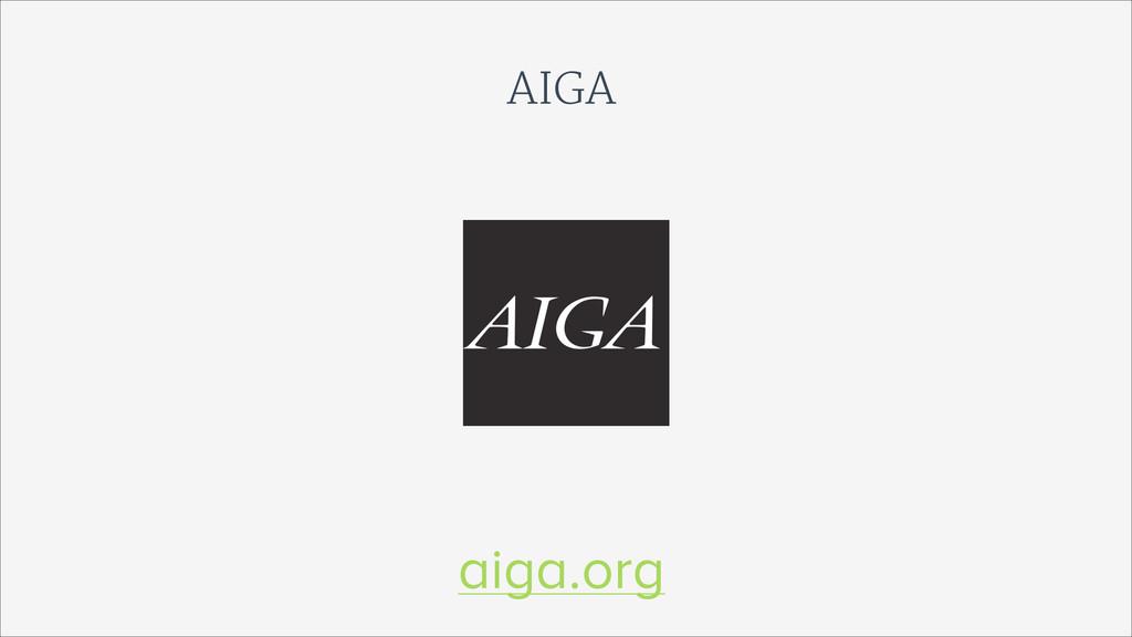 AIGA aiga.org