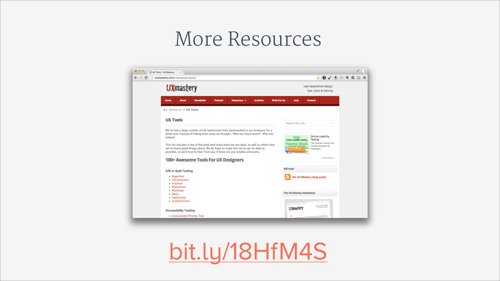 More Resources bit.ly/18HfM4S