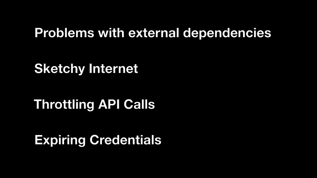 Problems with external dependencies Sketchy Int...
