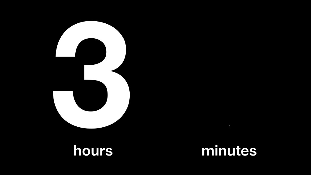 3 hours 3 minutes