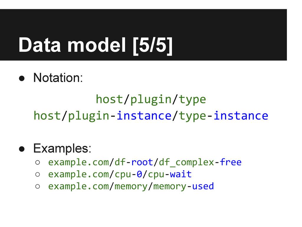 Data model [5/5] ● Notation: ● Examples: ○ exam...