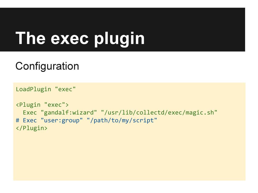 "The exec plugin Configuration LoadPlugin ""exec""..."