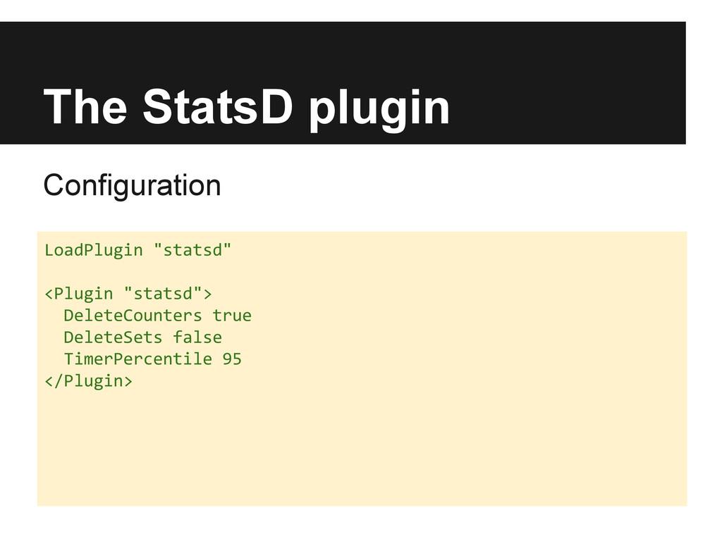 "The StatsD plugin Configuration LoadPlugin ""sta..."