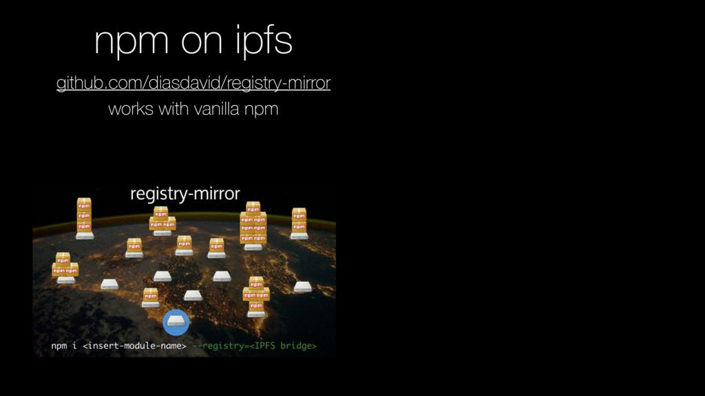 github.com/diasdavid/registry-mirror works with...