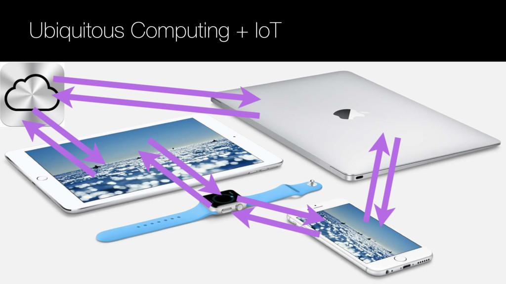 Ubiquitous Computing + IoT