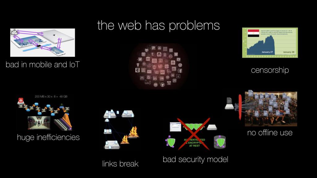 the web has problems huge inefficiencies no offline...