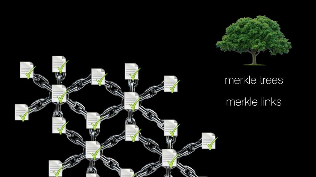 merkle trees merkle links