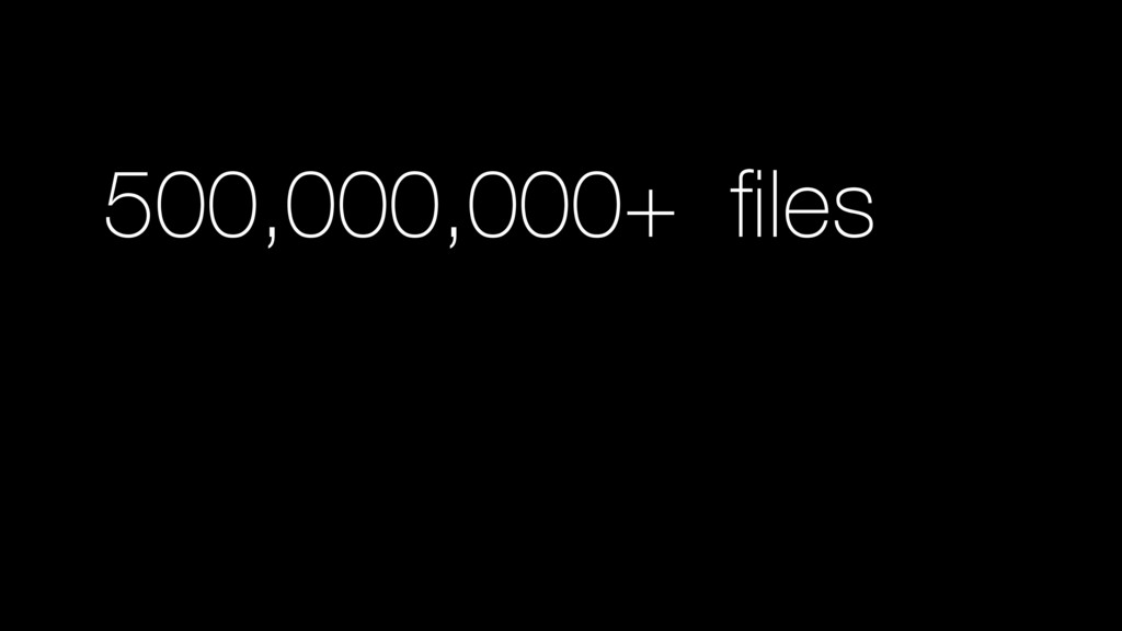 500,000,000+ files