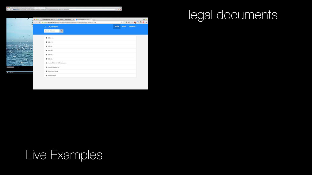 Live Examples legal documents