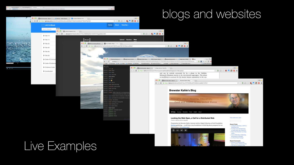 Live Examples blogs and websites