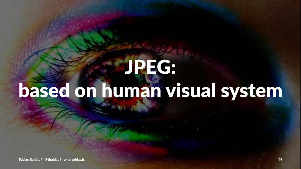 JPEG: based+on+human+visual+system Tobias'Balda...