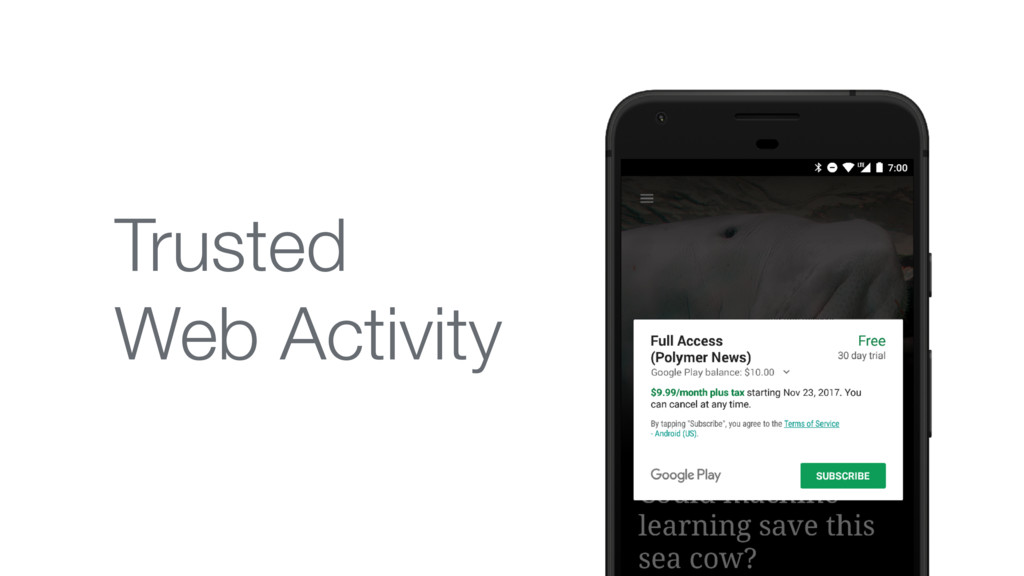 Trusted  Web Activity