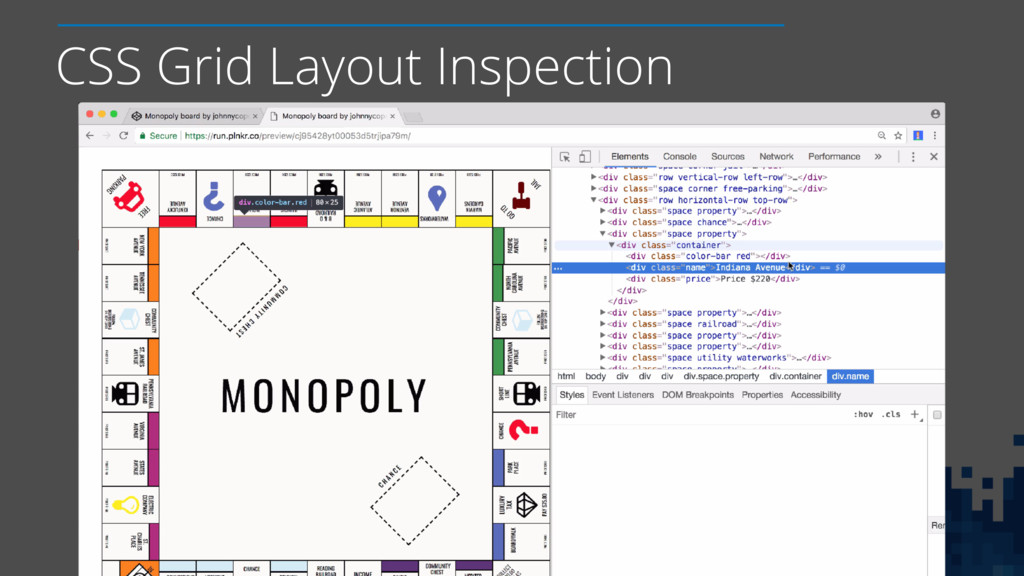 CSS Grid Layout Inspection