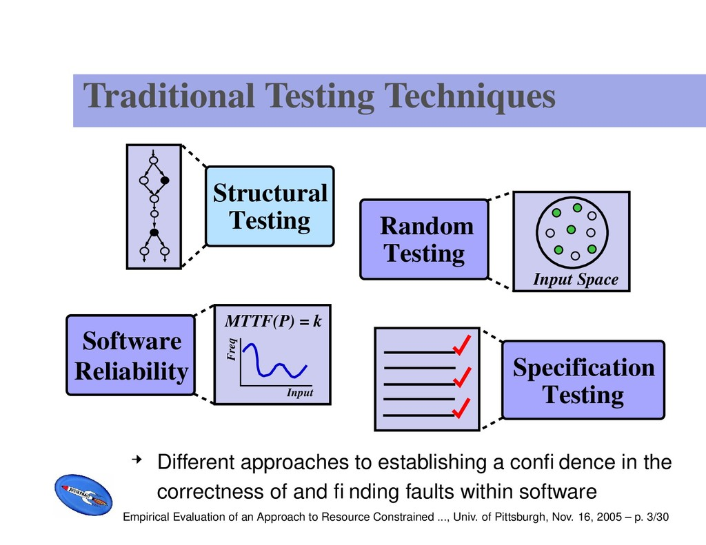 Traditional Testing Techniques Specification Te...
