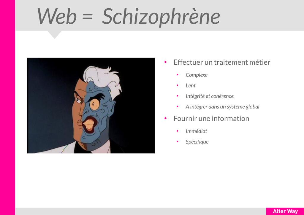 Web = Schizophrène ● Effectuer un traitement mé...