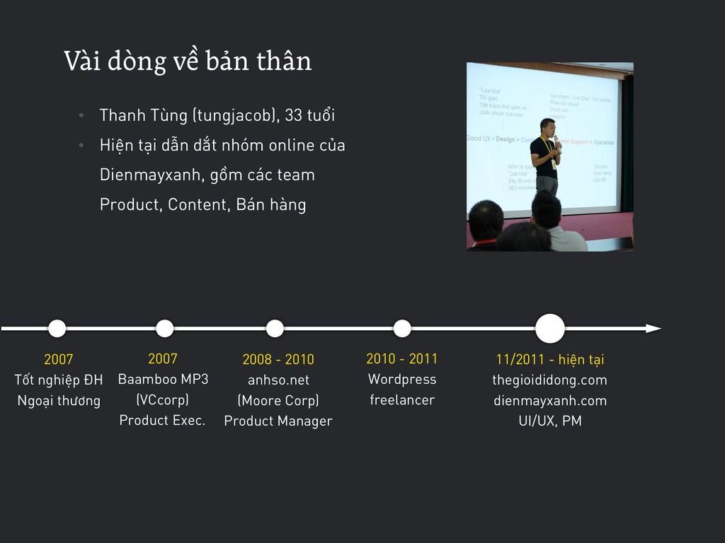 VÀi dòng về bản thÂn • Thanh Tùng (tungjacob), ...