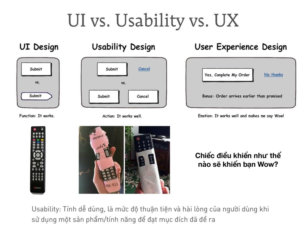 Usability: Tính dễ dùng, là mức độ thuận tiện v...