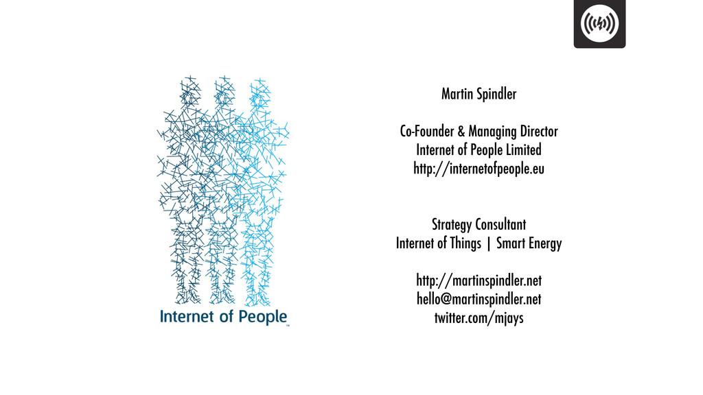 Martin Spindler Co-Founder & Managing Director ...