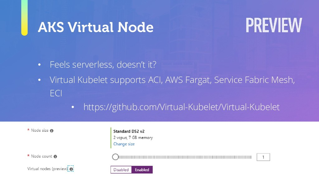 AKS Virtual Node • Feels serverless, doesn't it...