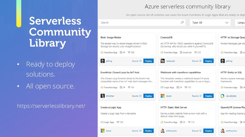 Serverless Community Library • Ready to deploy ...