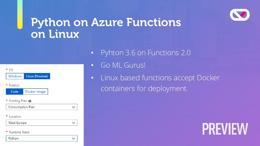 Python on Azure Functions on Linux • Pyhton 3.6...