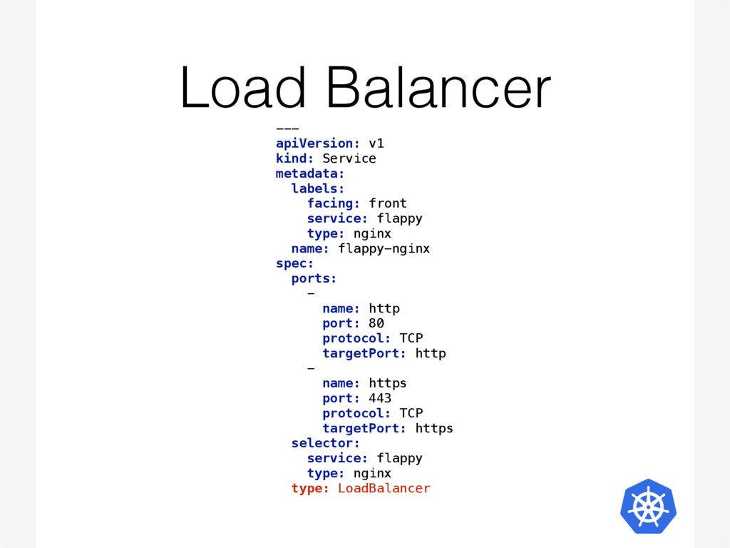 Load Balancer --- 