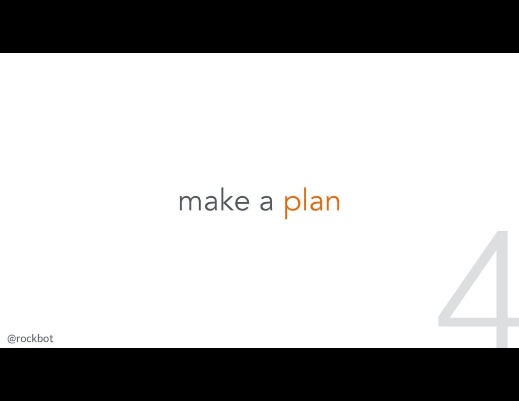 @rockbot #scotlandjs 4 make a plan