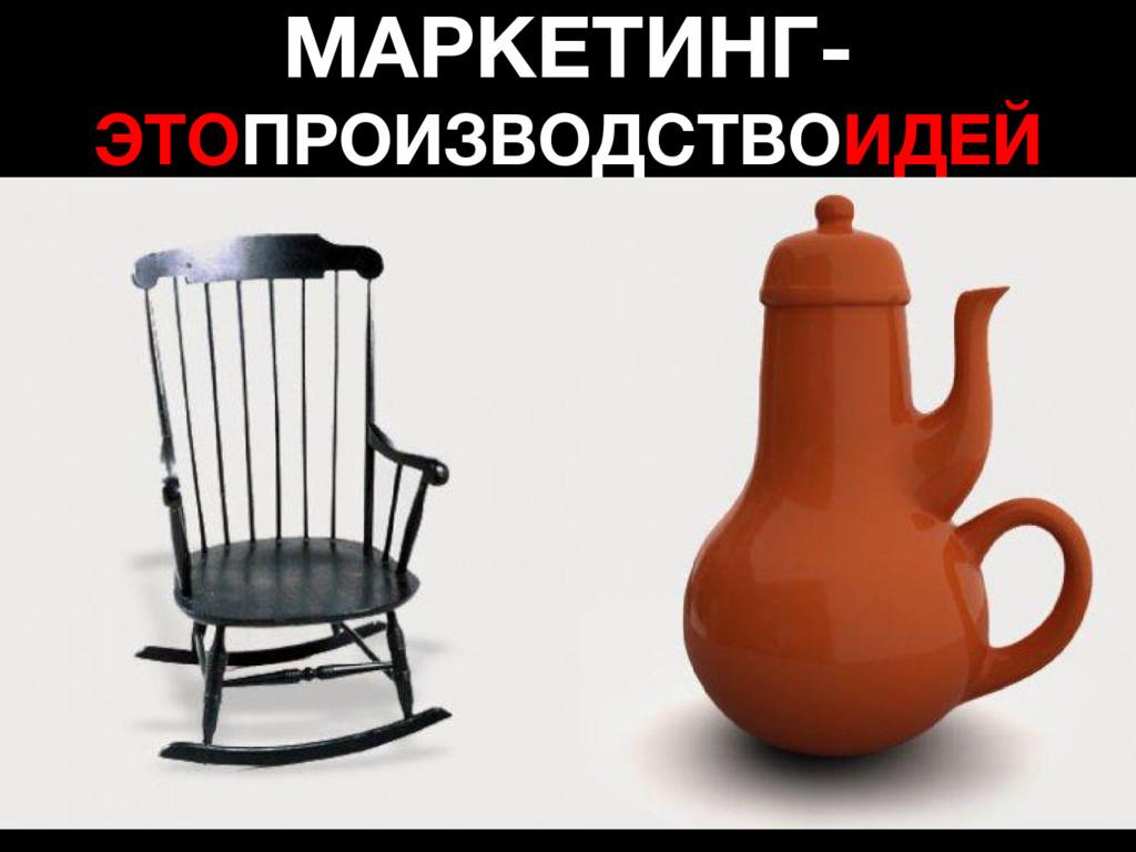МАРКЕТИНГ- ЭТОПРОИЗВОДСТВОИДЕЙ