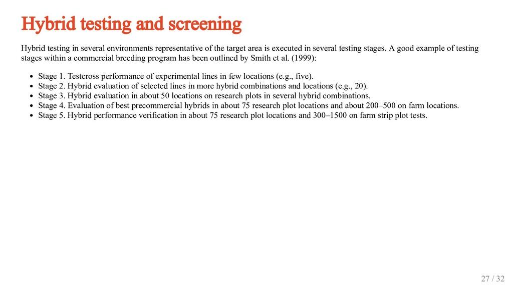 Hybrid testing and screening Hybrid testing in ...