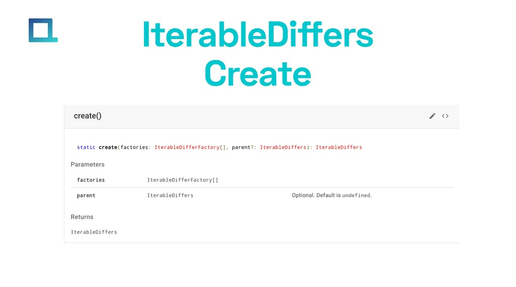 e-square.io IterableDiffers Create