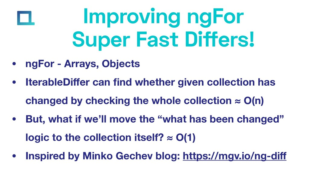 e-square.io Improving ngFor Super Fast Differs!...