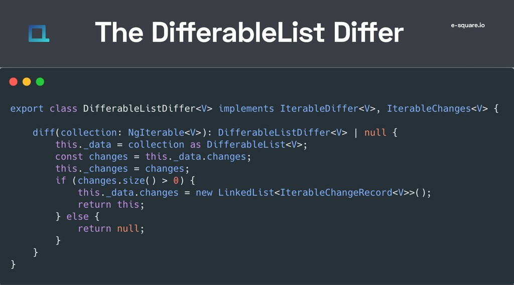 e-square.io The DifferableList Differ