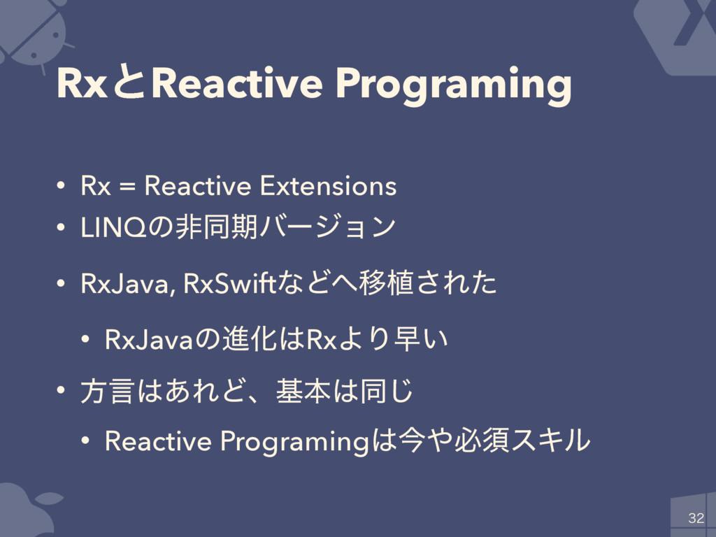 RxͱReactive Programing • Rx = Reactive Extensio...