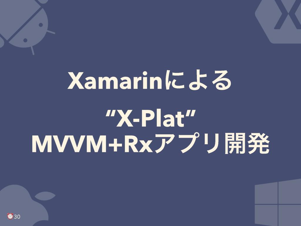 "XamarinʹΑΔ ""X-Plat"" MVVM+RxΞϓϦ։ൃ ⏰ 30"